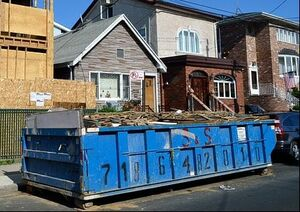 Roll off dumpster rental at construction site, Buffalo NY